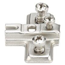 Kereszt szerelőlap mini kivetőpánthoz csavarozható előkészített eurocsavarokkal -2 mm