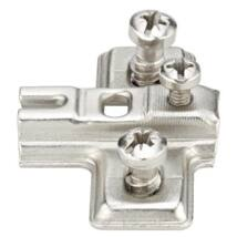 Kereszt szerelőlap mini kivetőpánthoz csavarozható előkészített eurocsavarokkal