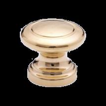 Műanyag kerek gomb arany dübel