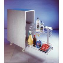2 polcos frontos tároló, teleszkópos, fékezős, oldalcsúszkás kerettel