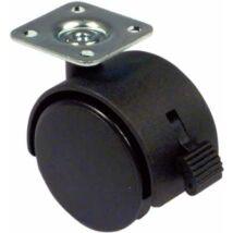 Bútorgörgő rögzítővel, borítással, irányítható 50 mm