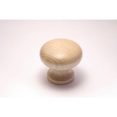 Fa marok gomb K/43 GY  fenyőgomb lakkozott