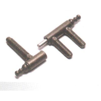 Háromcsapos pánt (egyik csap hosszított)