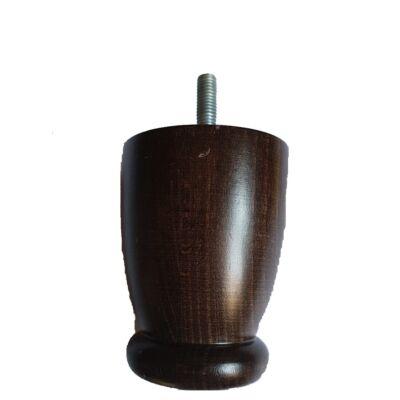 Fa bútorláb 80 mm lakkozott dió