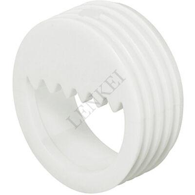 Műanyag fehér függesztő fűrészes fogazással 20 mm